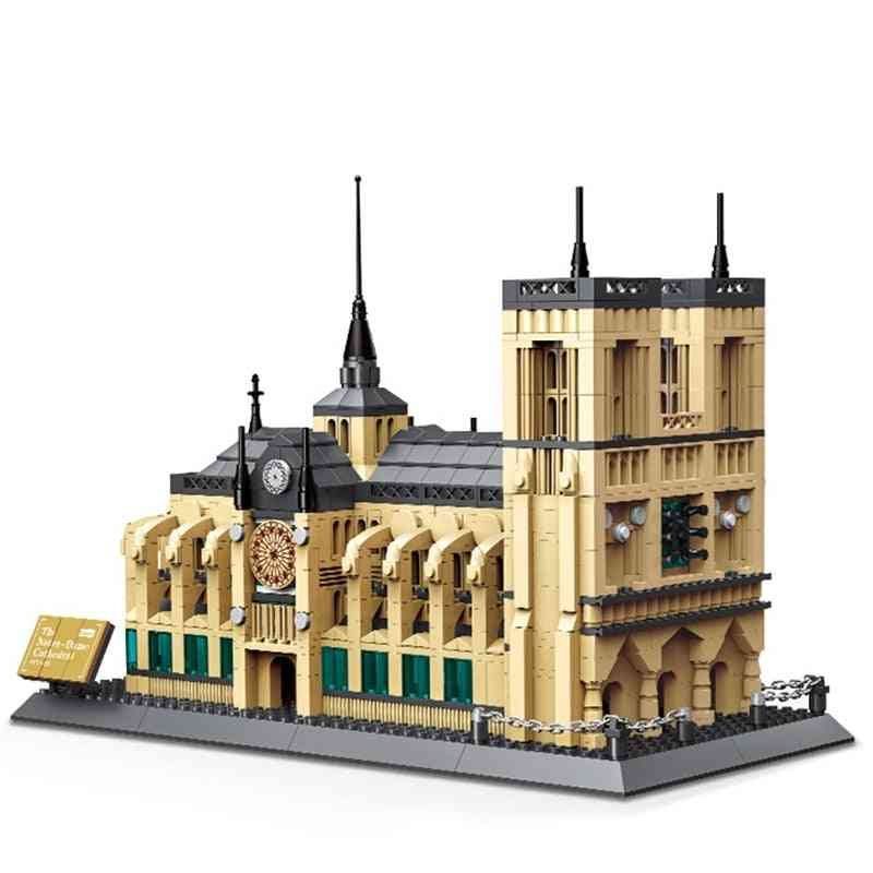 Mini Diamond Building Blocks-famous City Architecture-notre Dame Cathedral Model, Educational Toy