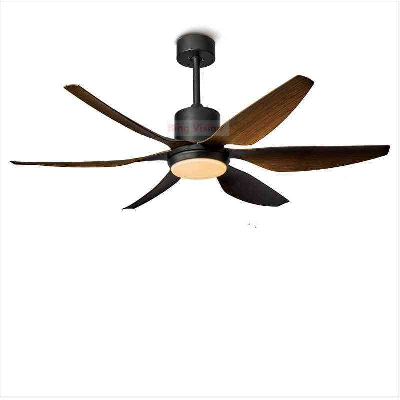 Wind Ceiling Fan With Led Light And Remote Control