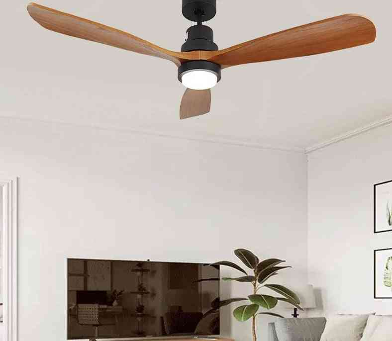 Wood Ceiling Fans With Lights And Remote Control For Home, Hotels