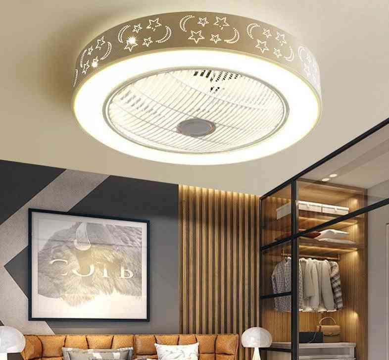 Modern Led, Iron Acrylic Ceiling Fans With Lights