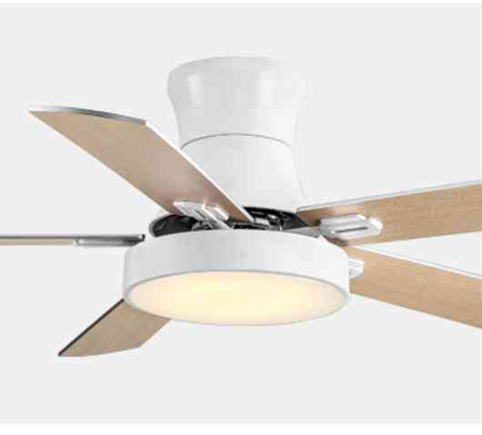 5 Blad Solid Wood Ceiling Fans Lamps,  With Lights For Living Room