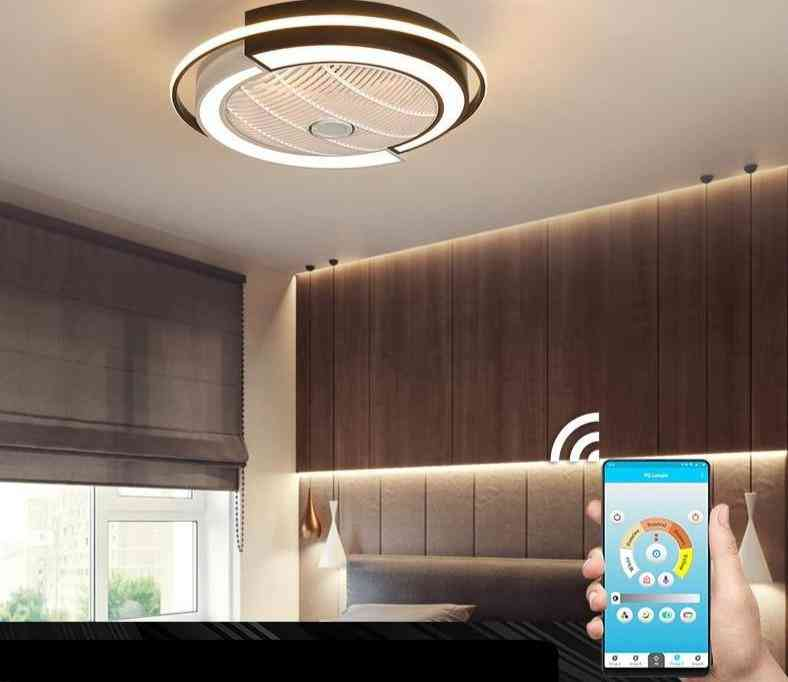 Smart Remote Control, Ceiling Fans With Lights