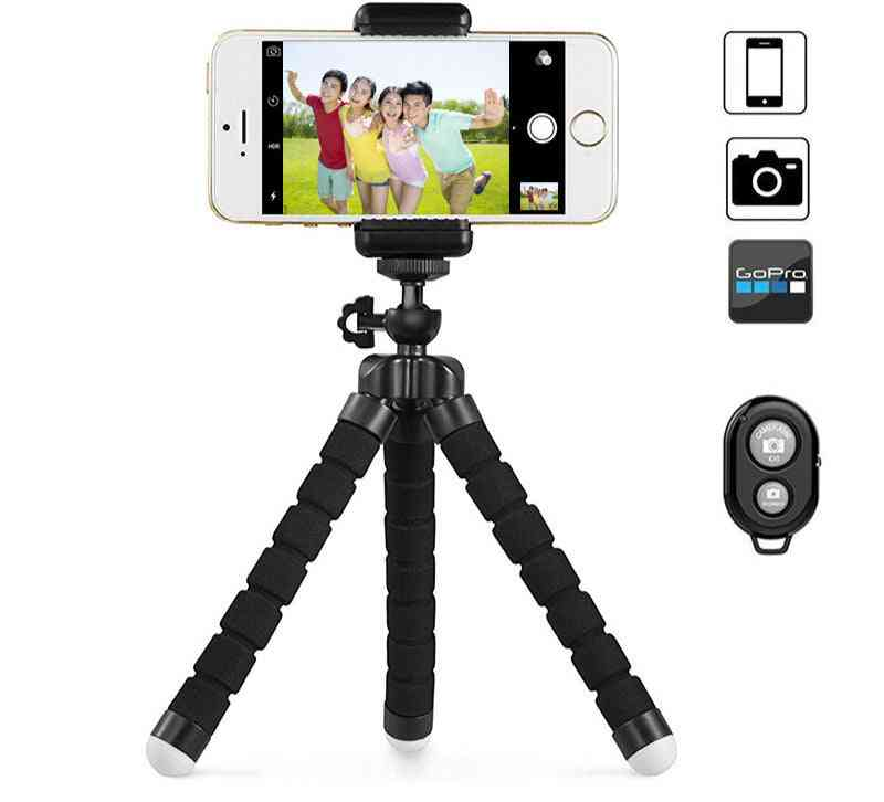 Flexible And Portable Tripod With Phone Holder And Remote Shutter For Iphone/smartphone