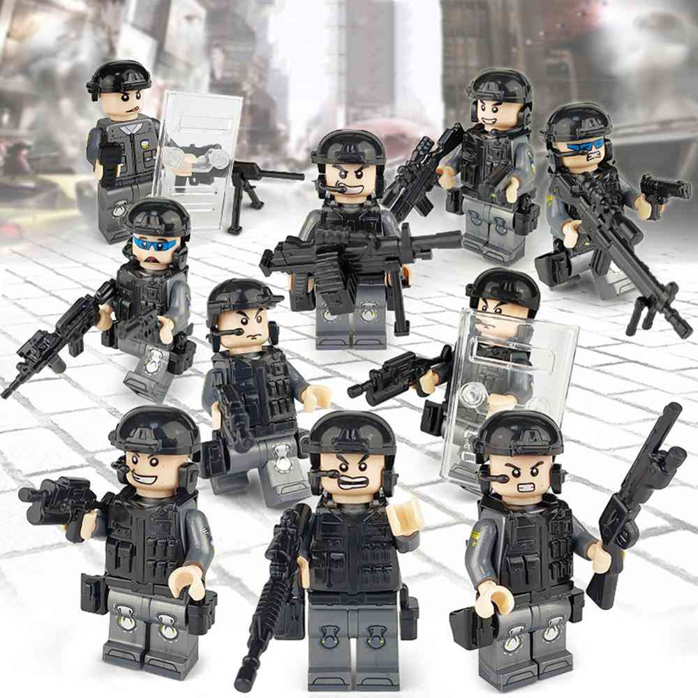 Armed Police Forces, Building Blocks-a Variety Of Shapes And Scenes For