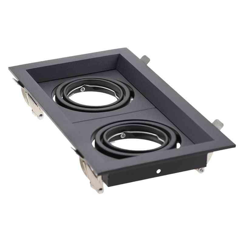Square Shape, Embedded, Single/double Head-holder For Ceiling Spotlight
