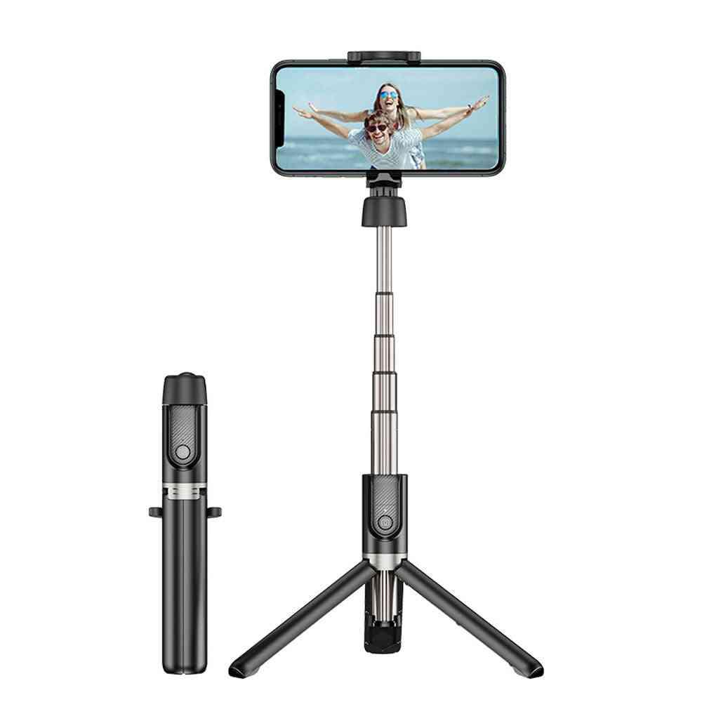 Portable Foldable Handheld Smartphone Camera Tripod - Bluetooth Selfie Stick