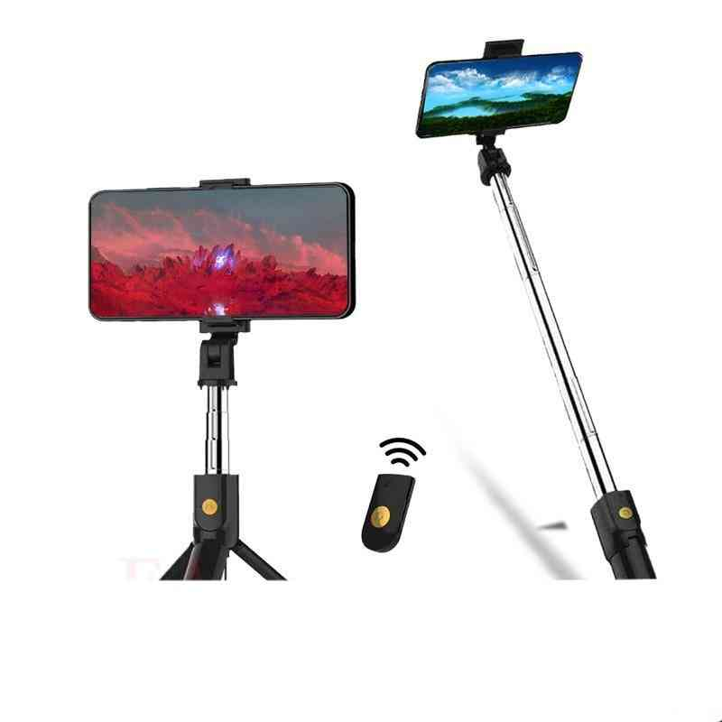 3 In 1 Wireless Bluetooth Selfie Stick Extendable, Handheld Monopod Foldable, With Shutter Remote