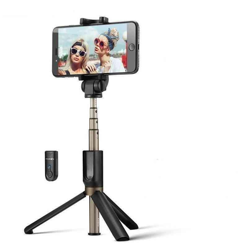 Wireless Bluetooth Selfie Stick, Mini Tripod Extendable Foldable Monopod