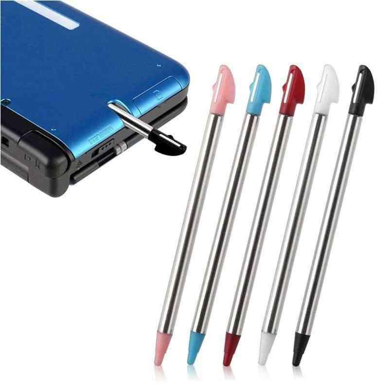 5pcs Colors Metal Retractable Stylus Touch Pen For Nintendo 3ds, Xl, N3ds, Ll, Us