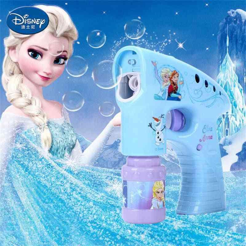 Frozen Elsa Anna Snow Girls Cartoon Bubbles  Machine Disney Cars Outdoor Fun Maker Party Outdoor Toy Without Bubble Liquid