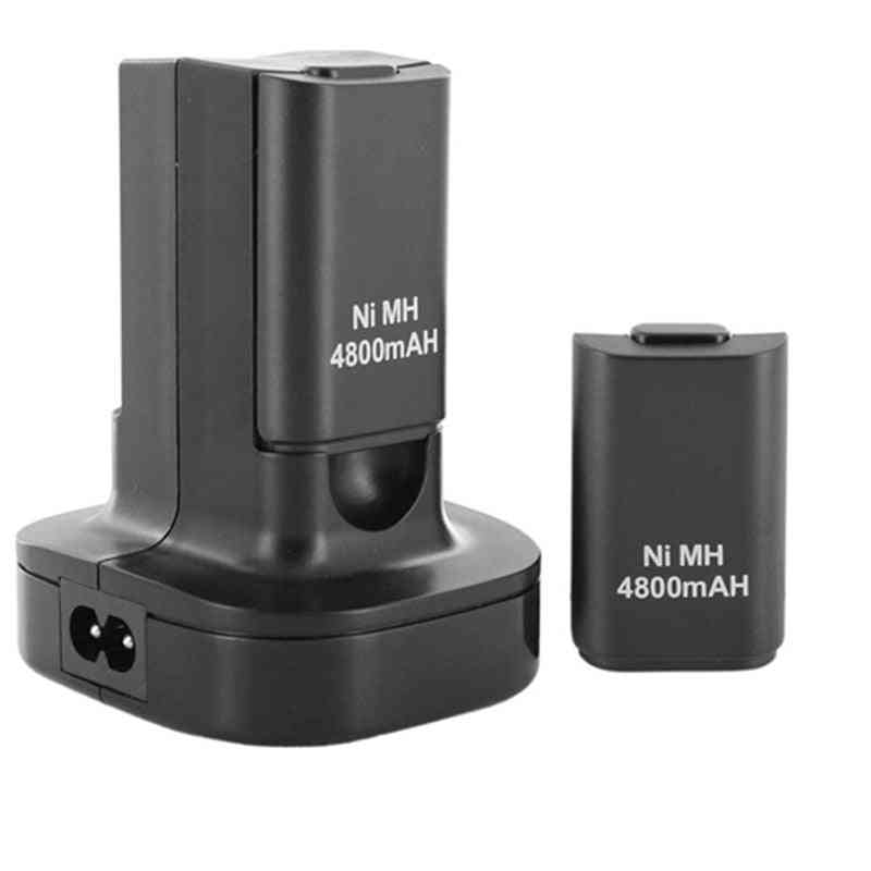 Dual Charger Dock Station With 2pcs 4800mah Rechargeable Battery