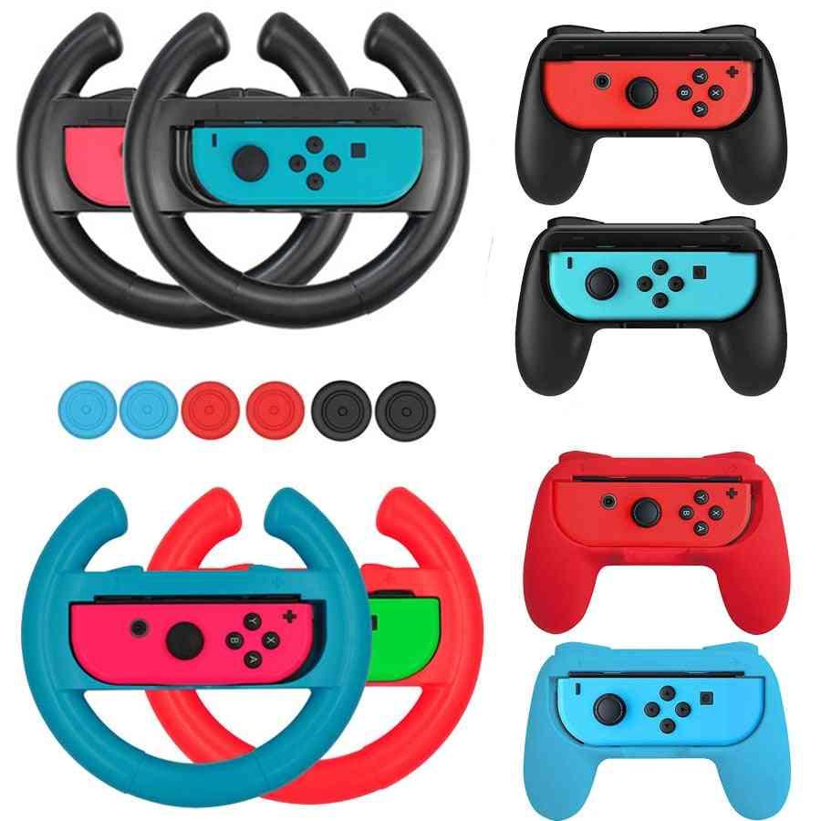 10 In 1 Nintend Switch Joy-con Accessories 2 Racing Steering Wheel