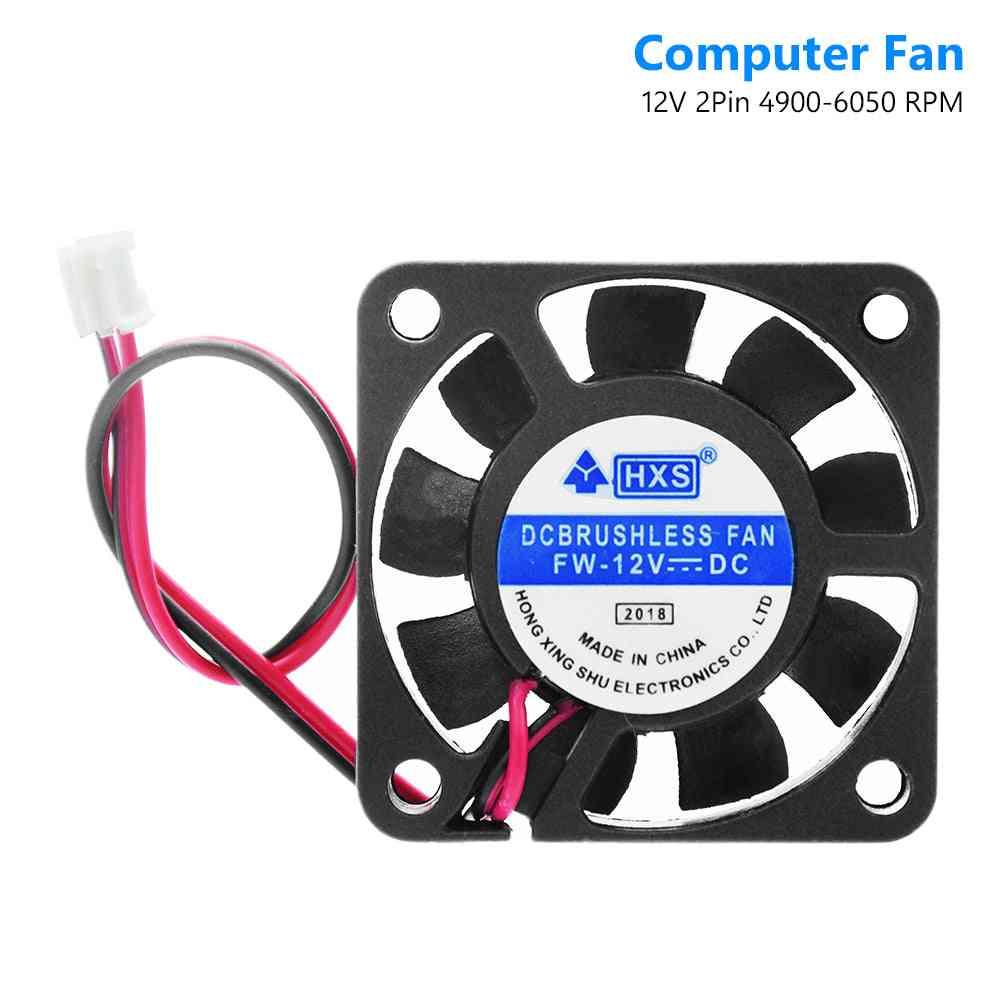 Video-chip 40x40mm 2-pin Black Desktop Cpu Cooler 40mm 2 Pin Pc-fan Heatsink Cooling Fan Dc 12v 4010 Model (el0139)