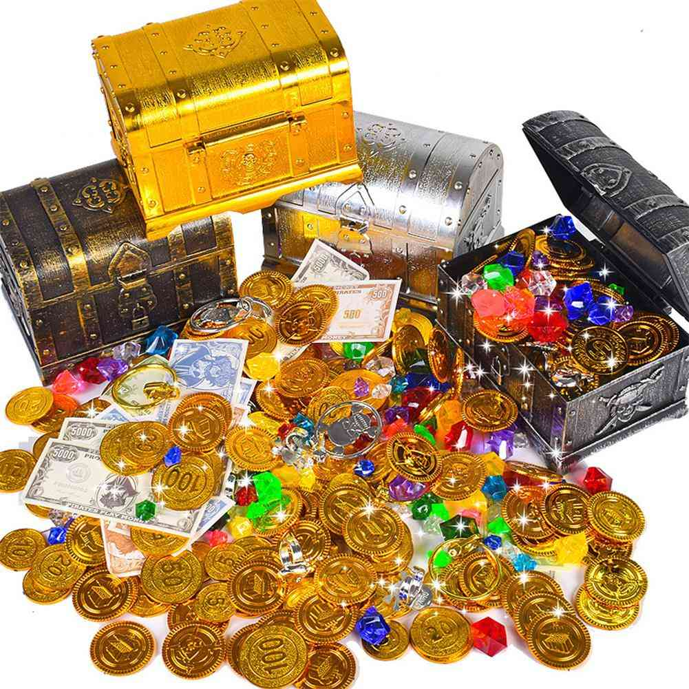 Retro Treasure Box With Lock For Party Favors Props