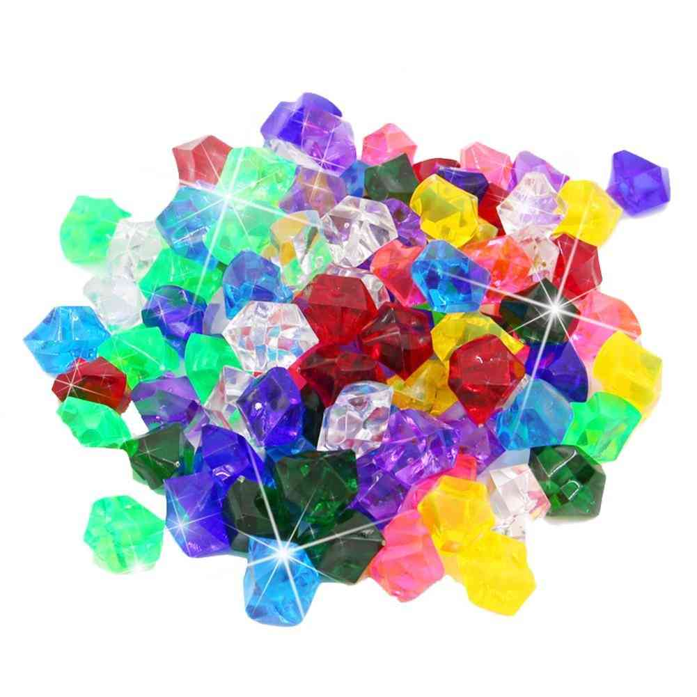 Acrylic Colorful Small Gems Stones Playing