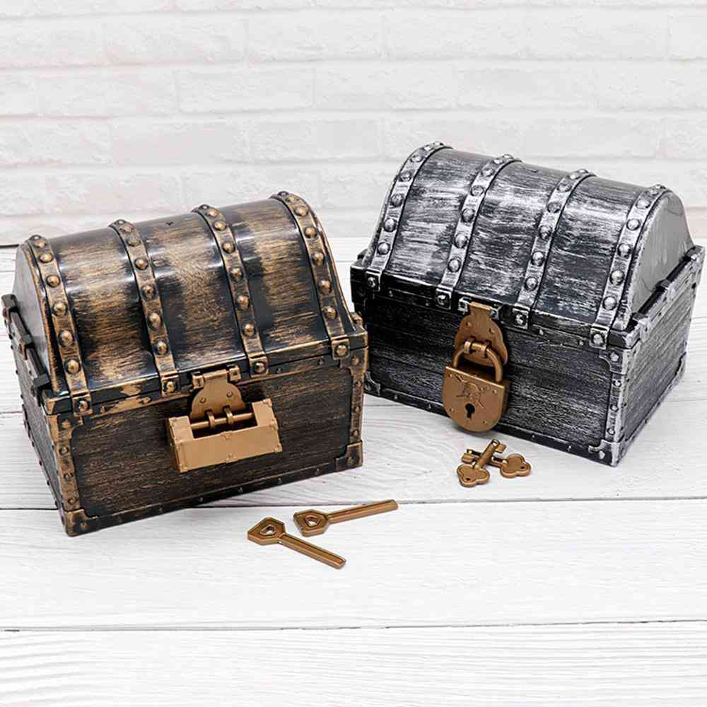 Retro Style, Large Storage Boxes For Jewelry-playset Pack