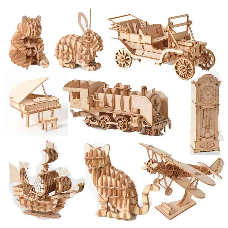 3d Wooden Puzzle Toy-laser Cutting Diy Toy Craft Kit