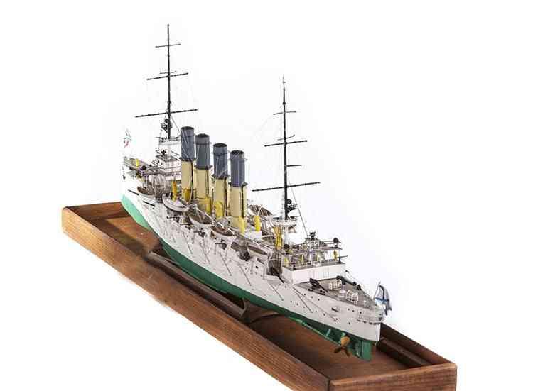 Protective Cruiser Diy 3d Paper Card Model Building Sets - Construction