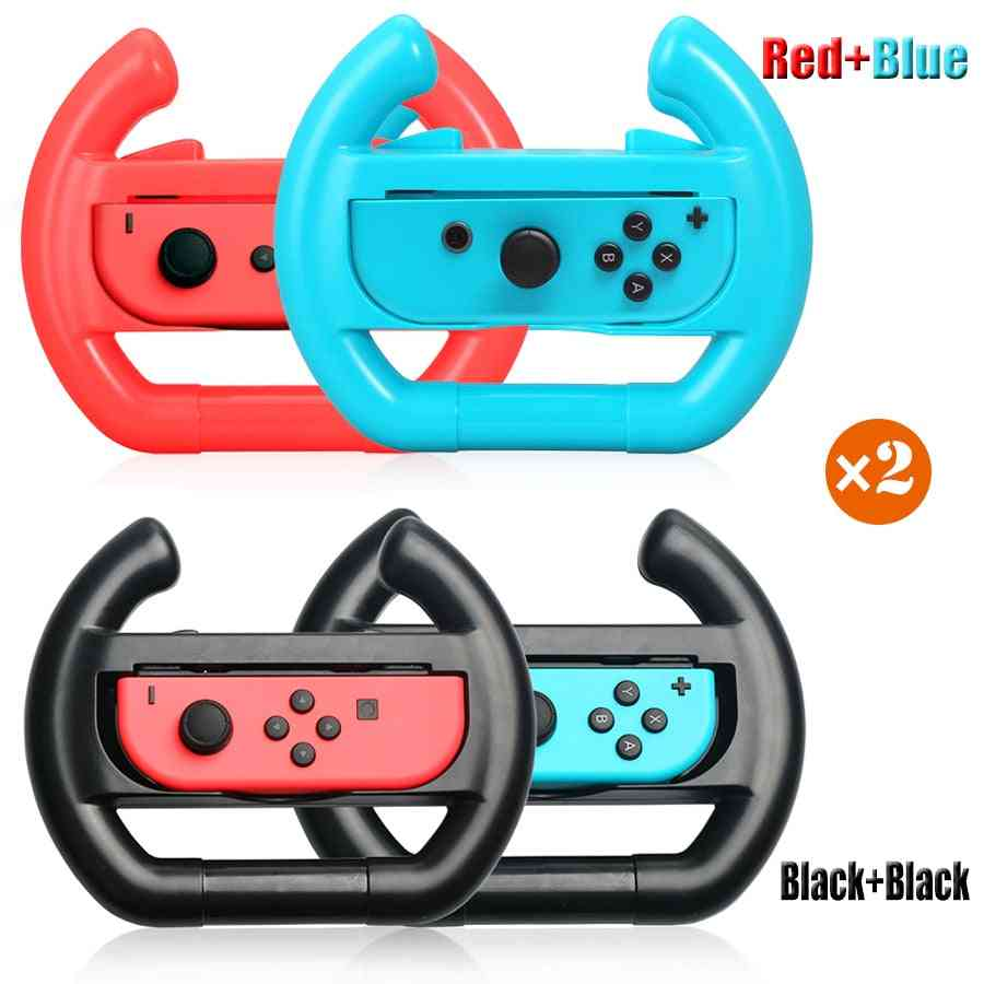 2pcs Nintend-switch-racing-game Steering-wheel, Joy-con Holder-stand Handle Grip For Nintendo Switch Accessories