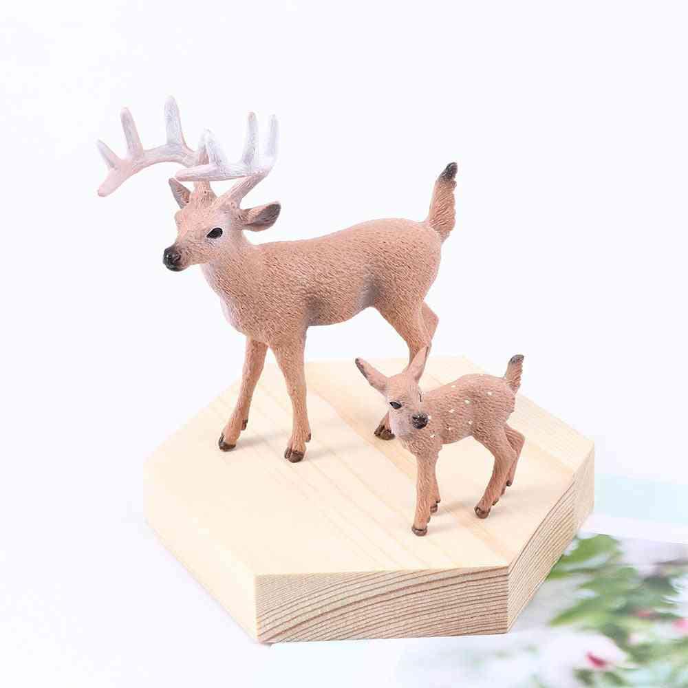 Mini Christmas Deer Miniatures Figurines- Simulated Animal Model