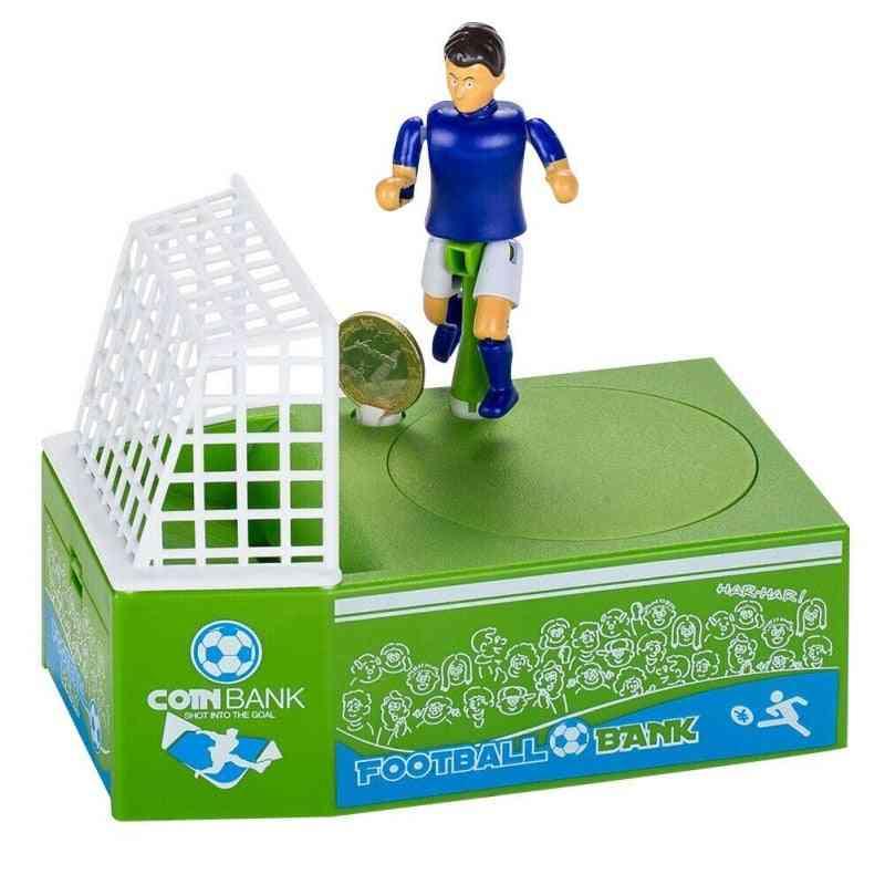 Electric Soccer Player Goal Kicking Piggy Bank