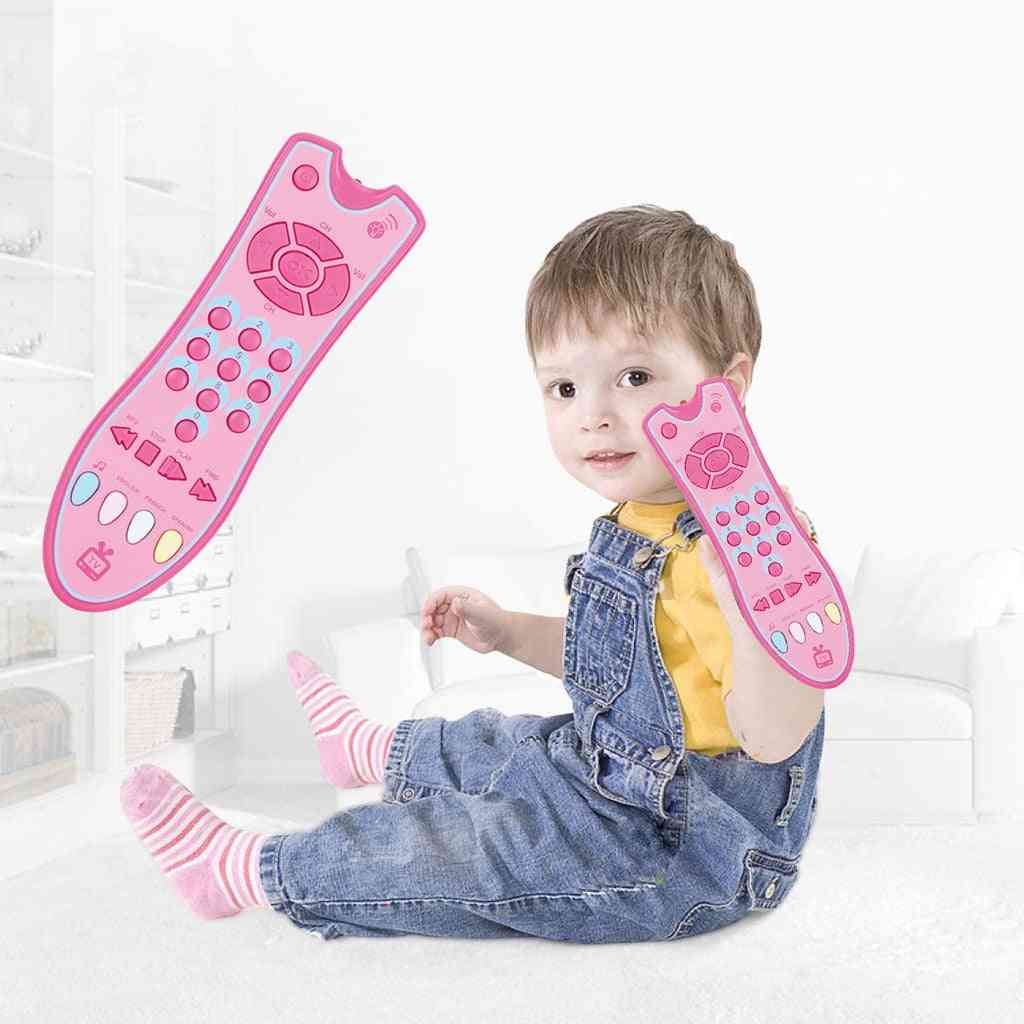 Musical Tv Remote Control Learning Toys For Kids With Light And Sound For Early Education