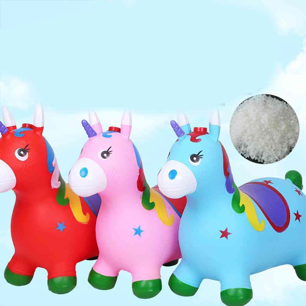 Kuulee Kid Inflation Horse Hopper Stable Plastics Baby, Thicken Horse Riding Jumping Child Kangoo Jumper