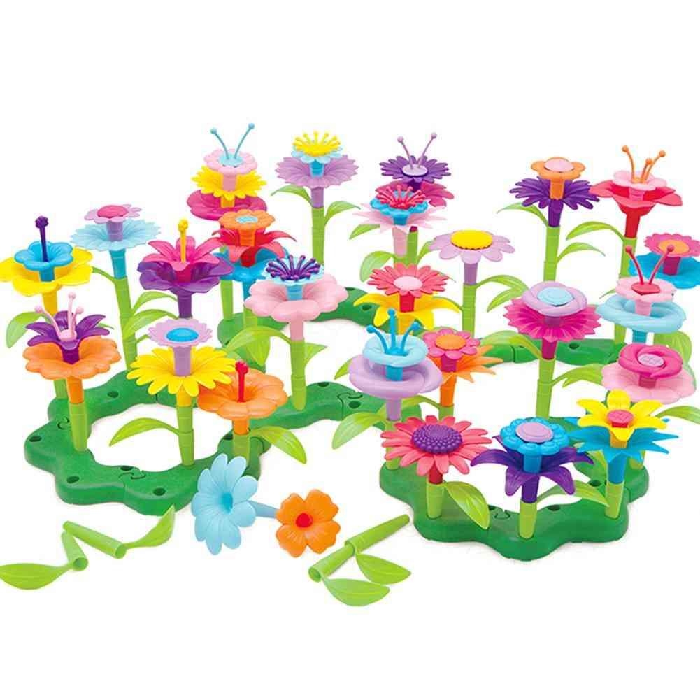 Kdis Diy Assembling Toy Pretend Flower Arrangement Garden Building Blocks