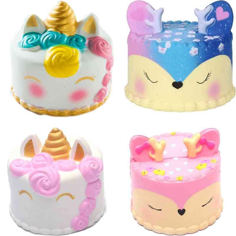 Coloful Jumbo Deer Cake Squishy Slow Rising Anti Stress Toy For Children