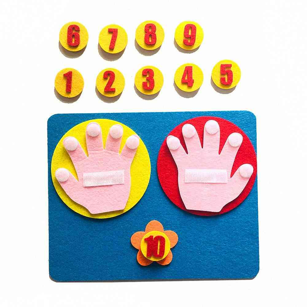 Set Of Handmade Felt Finger, Numbers-math Toy-counting Teaching Aids