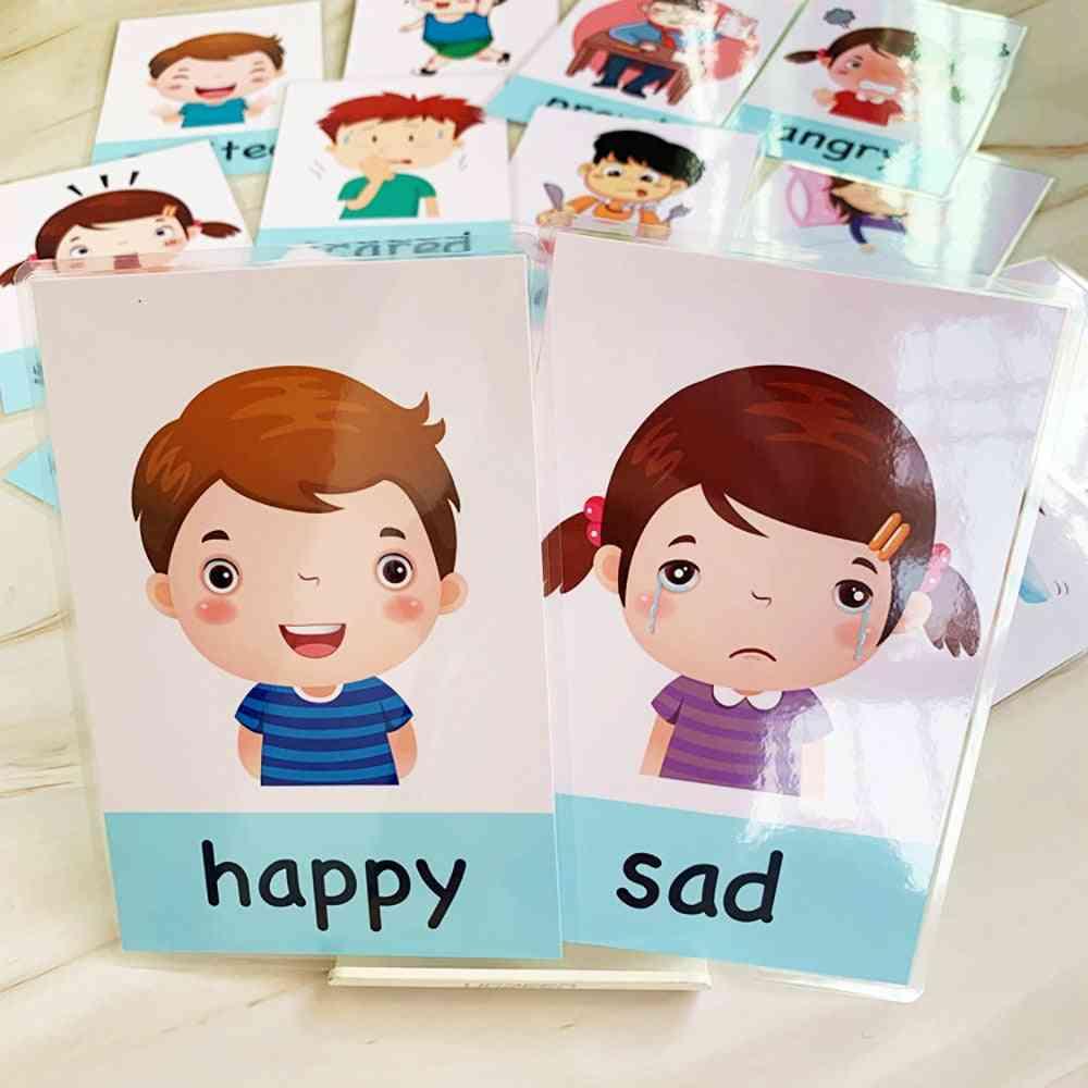 Emotion Learning Card - English Emotion Flash Cards For Child