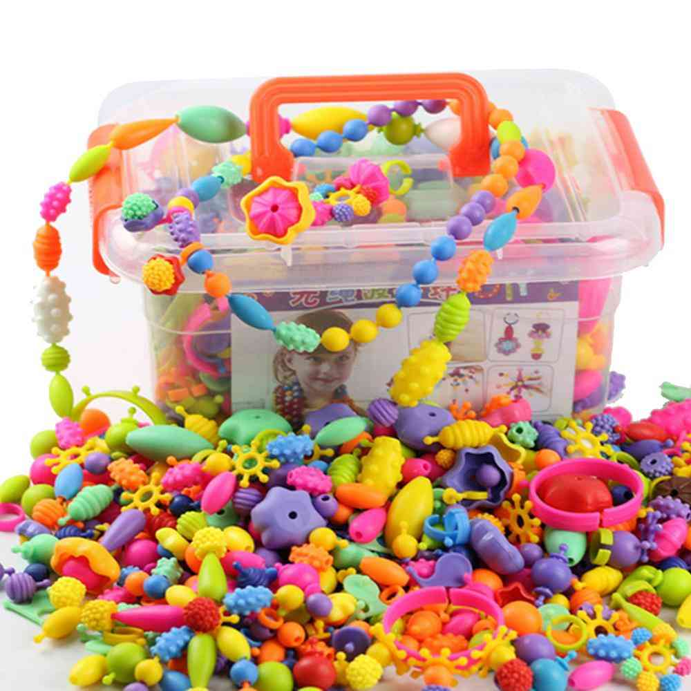 Funny Cute Assorted Shapes Plastic Pop Snap Beads Set