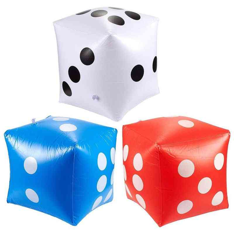 Funny Outdoor Inflatable Dice 30*30cm Swimming Pool Party Supplies For Adults Cube