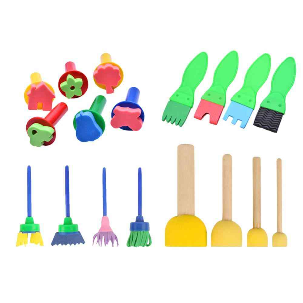 Painting Tools Stamps, Flower Stamp Sponge Brush Set Art