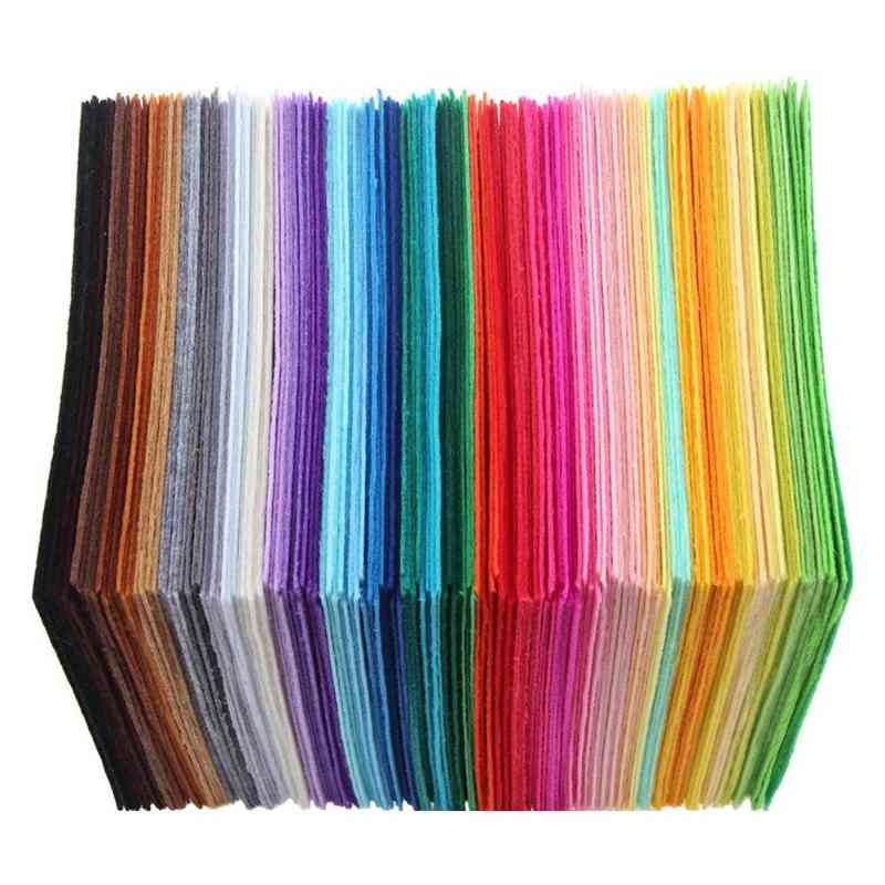 Non Woven Felt Fabric Patchwork Sewing Cloth For Kids  (multicolor)