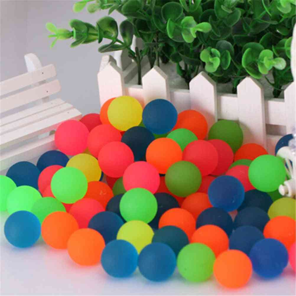 10pcs/lot Ball Toy, Colored Bouncing Ball Rubber Outdoor Kids Sports - Elastic Juggling Jumping Games Balls