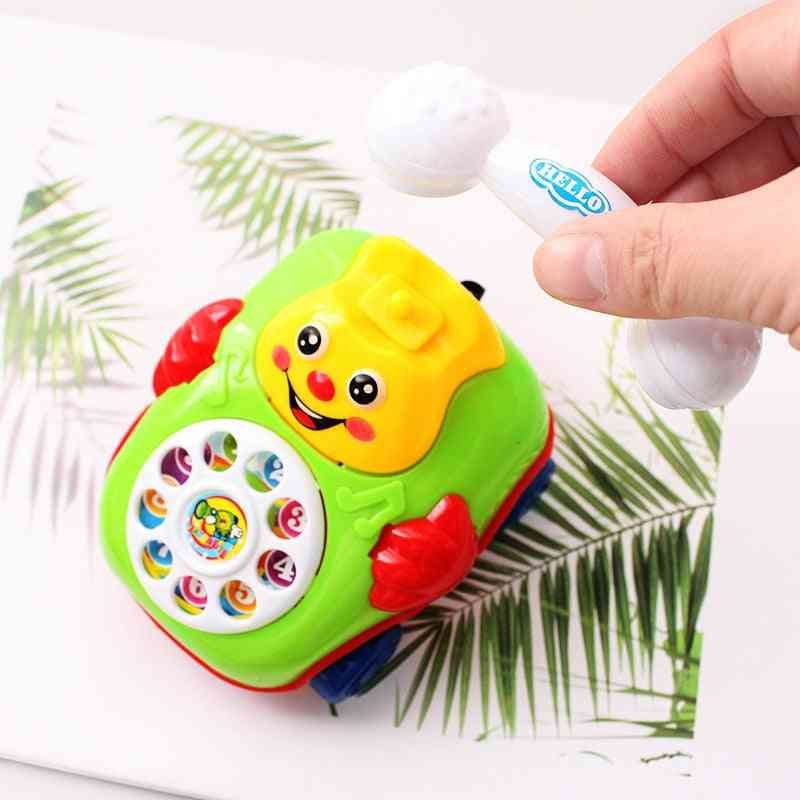 Creative Wire-pulling Smiling Face Simulated Telephone Wind Up Toy