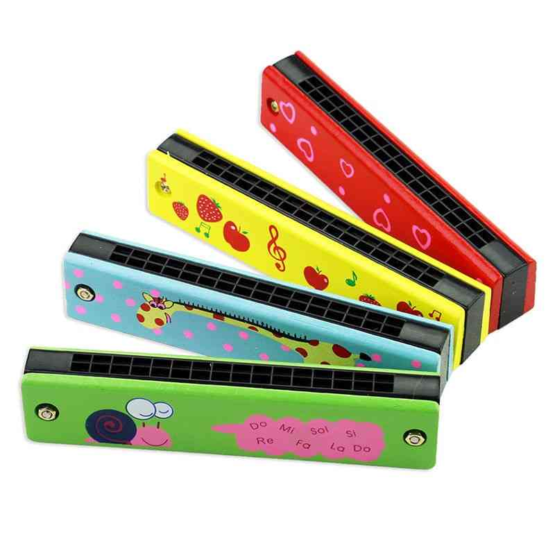 16 Holes Harmonica - Soft Wood Musical Instruments Toy