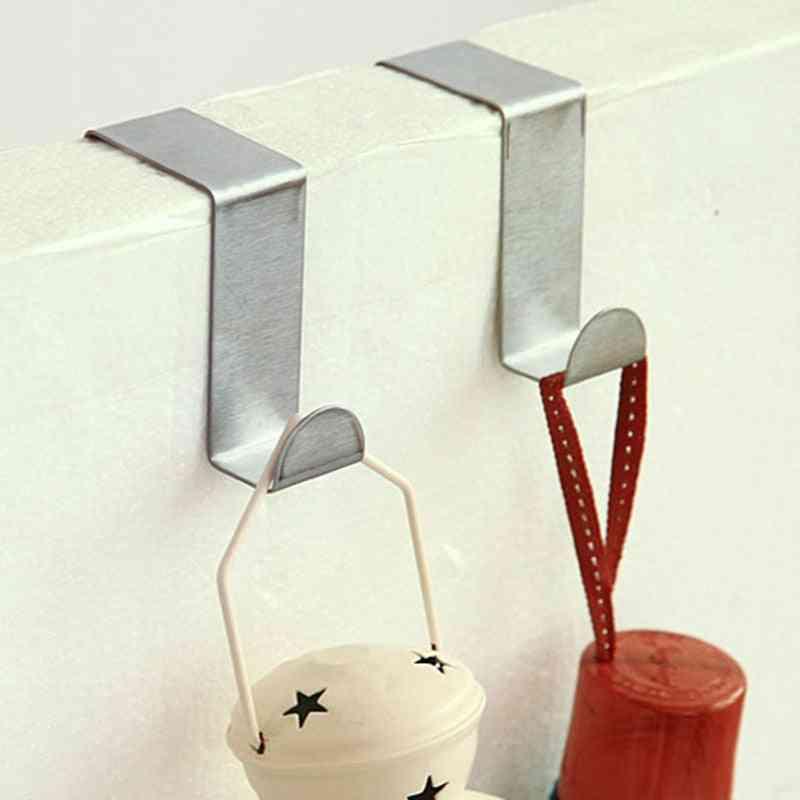 Stainless Steel Door Back Z Shaped Hook - Clothes Hanger / Holder