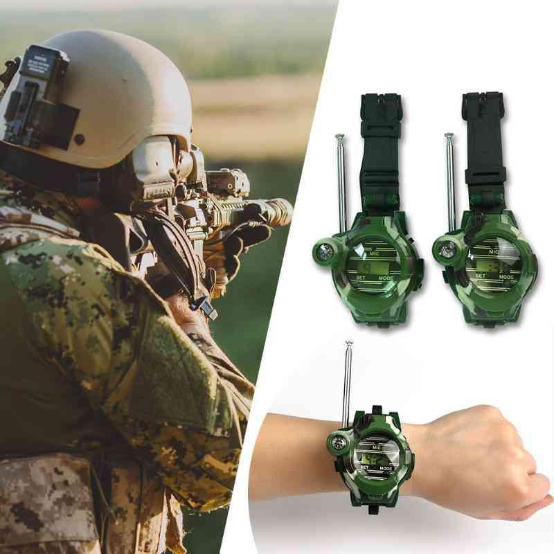 Kids Military Simulation Watch Intercom Electronic Walkie- Talkie Toy
