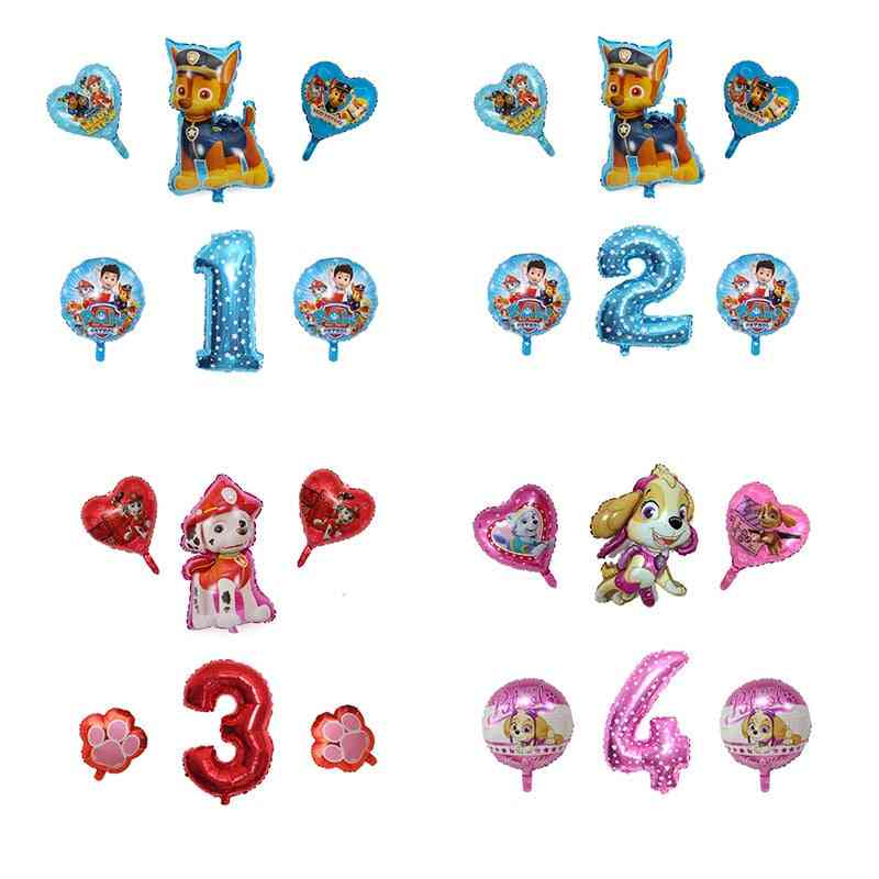Paw Petrol Figure-foil Ballon For Birthday, Party Decorations