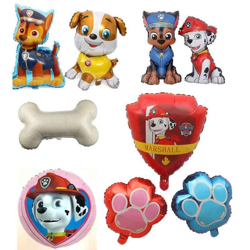 Birthday Decoration Figure, Puppy Patrol Balloon, Party Room Decor Chase Marshall Ballon Kids  Toy