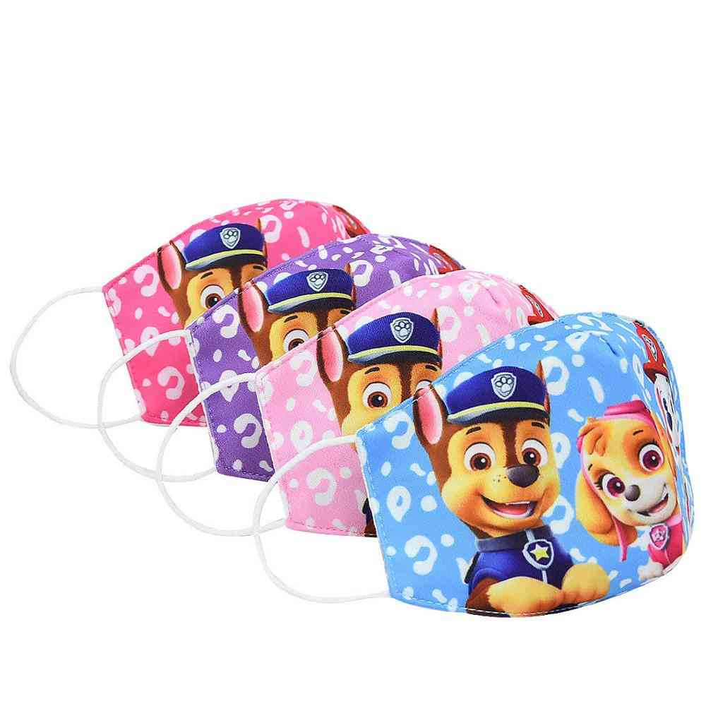 Cute Paw Patrol Printed, Anti-dust And Washable Face Maks For Kids