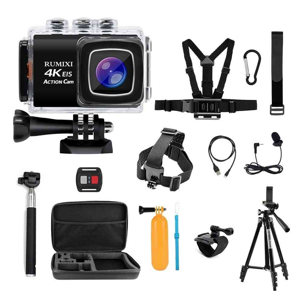 Hd 4k Action Sports Camera With Bulit-in Wifi Eis Function