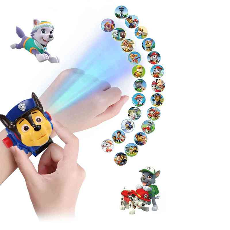 Paw Patrol Projection Digital Watch - Time Develop Intelligence Learn Dog Everest Anime Figure Toy