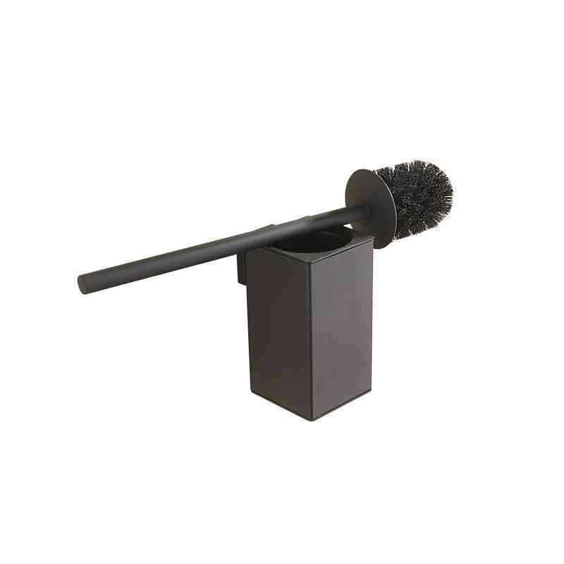 Wall Mounted Stainless Steel Inner Plastic Bucket Toilet Brush Holder