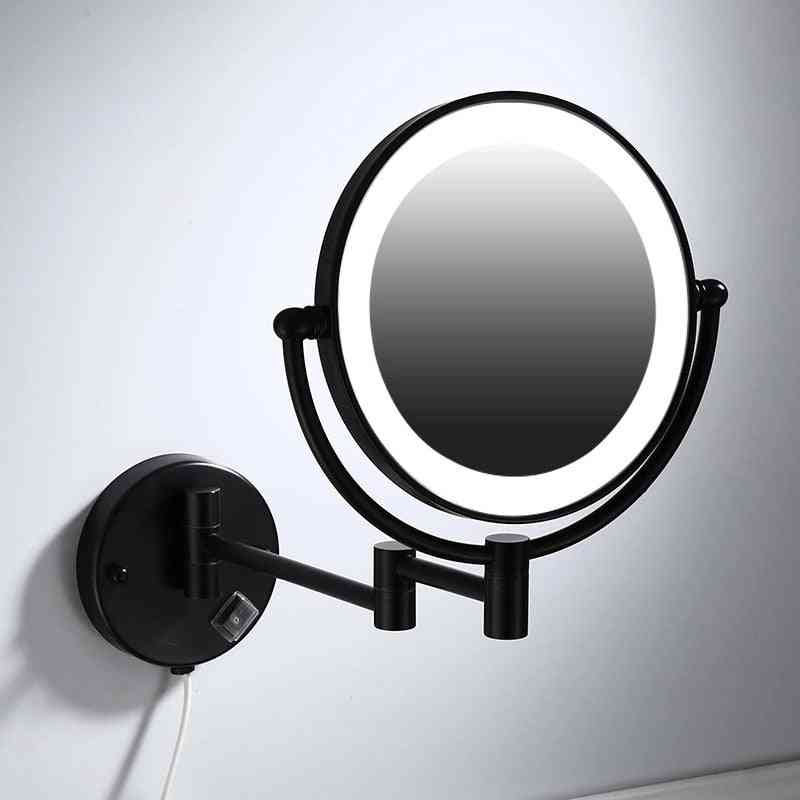 Makeup Mirrors - Led Wall Mount, Folding Double Side