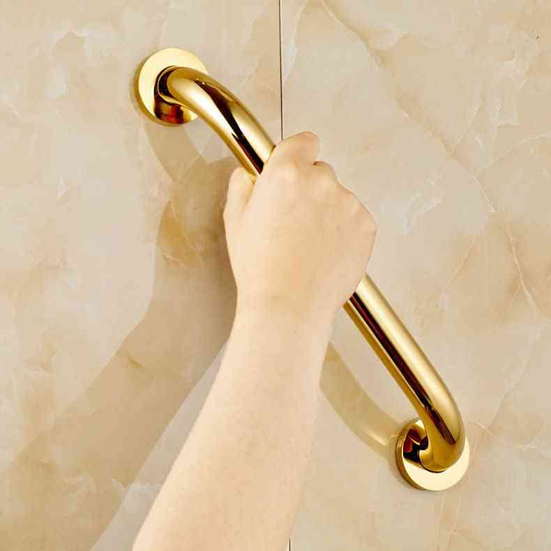 Golden Brass Wall Mount Bathroom Safety Handrail Grab Bar