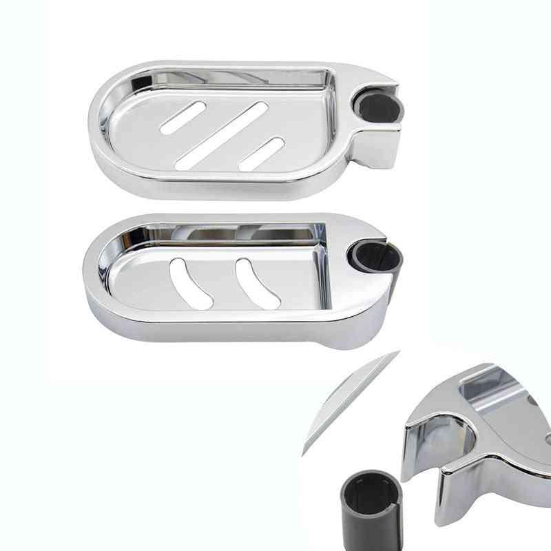 Adjustable Shower Rod Slide  Bathroom Gadget, Soap Dish Holder