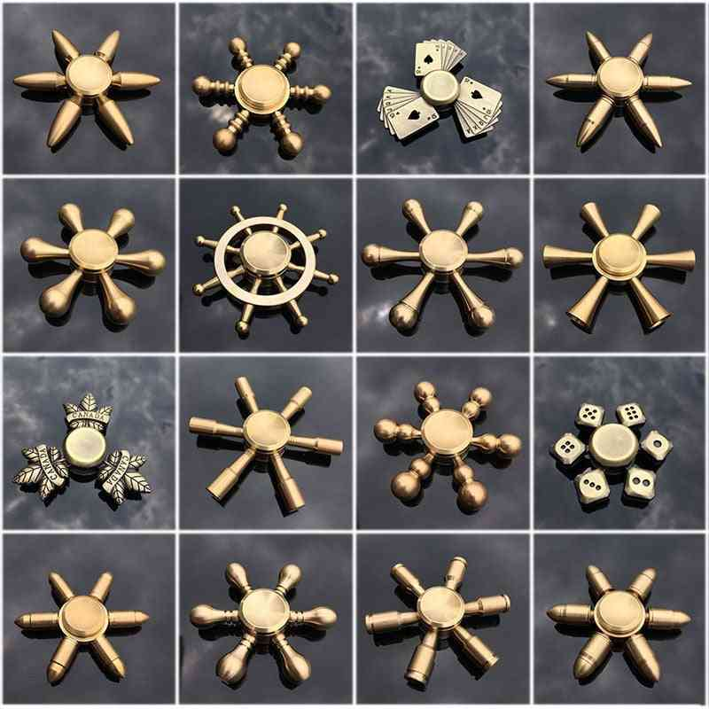 Copper Core Bullet Shape Hand, Fidget, Finger, Metal Spiner - Anti Relieve Stress For Adult